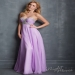 Crystal Beaded Crisscross Bust Long Lilac Prom Dress 2016 [Night Moves 7078] - $188.00 : Hot Sale Prom Dresses