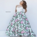 Sherri Hill 50451 Beaded Halter Style Floral Ball Gown Sale [sherri hill 50451 ivory pink] - $287.00 : homecomingshortdresses.us