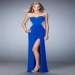 2016 Blue Sparkly Jeweled Illusion Evening Dress Outlet [la femme 22190 blue] - $149.00 : Fashion Cheap Prom Dresses, Formal, Homecoming Dresses - DressPromFashion