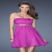Short Magenta Beaded Open Back Prom Dresses [cheap short prom dresses] - $135.00 : www.2014dressesforprom.us