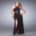 Black Knockout Sultry Cut Out Evening Dress Outlet [la femme 22206 black] - $179.00 : Fashion Cheap Prom Dresses, Formal, Homecoming Dresses - DressPromFashion