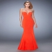 Vivid Deep Plunging Sweetheart Fit Flare [la femme 22237 papaya] - $179.00 : Fashion Cheap Prom Dresses, Formal, Homecoming Dresses - DressPromFashion