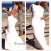 Sexy Backless White Long High Neck Jersey Evening Dress - $155.00