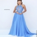 Peri Long Flowy High Neck Open Back Chiffon Evening Gown [sherri hill 50454 peri] - $239.00 : www.2014dresstrends.us