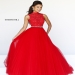Stunning Red Floral Applique Top A Line Evening Gown [Sherri Hill 21334] - $271.00 : Hot Sale Prom Dresses