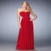 2016 Cheap Red Ruched Gathered Strapless Gown [la femme 21948 red] - $135.00 : Fashion Cheap Prom Dresses, Formal, Homecoming Dresses - DressPromFashion