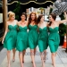 Emerald Short Ruched Bust Strapless Bridesmaid Dress Sale - $85.00