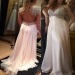 A-Line/Princess V-neck Sleeveless Chiffon Ruffles Sweep/Brush Train Dresses