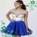 NEW Style Discount Royal Blue Crystals Beaded Sweetheart Chiffon Homecoming Dress [Hsd Sherri Hill 1929 Royal Blue] - $220.00 : homecomingshortdresses.us