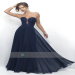 Black Friday Sale Strapless Sweetheart Appliques Chiffon Prom Dress
