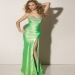 Satin Floor-Length Sweetheart Sheath/Column Long Dress With Beading