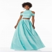 High Neck Pleated A-line Skirt Buttons Back Two Piece Satin Prom Dress