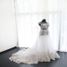 A-line Bateau Court Train Tulle Wedding Dress Applique [VIVIDRESS1053] - R2314 : vividress.co.za