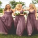 A Line Floor Length Spaghetti Sleeveless Tulle Bridesmaid Dress - Ombreprom