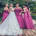 A Line Floor Length Sweetheart Sleeveless Layers Bridesmaid Dress - Ombreprom