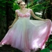 Pleated Sleeveless Ombre Pink Chiffon Fancy Dresses 56311