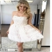 Elegant A-line Tulle Strapless Neckline Appliques Homecoming Dresses M452 - Ombreprom