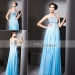 Ombre Blue Off Shoulder Sleeveless A-line Pleated Ball Gowns 81035