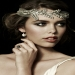Tiulowa opaska JJA2074 - Wheat Headband on Ivory Tulle | Johanna Johnson eBoutique