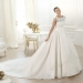 Pronovias presents the Laudin wedding dress. Costura 2014. | Pronovias